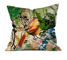 Kuş Desenli Kırlent - Kırlentler - Cipcici Throw Pillows, Toss Pillows, Decorative Pillows, Decor Pillows, Scatter Cushions