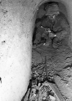 Tunnel rat Vietnam - A flashlight and a revolver. That's it. You had to be either crazy or unreal brave to climb in to that dark tunnel.