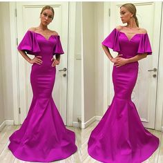 2fd02da9555 Plum Mermaid Prom Dresses Long Party Evening Gowns Off Shoulder Sweep Train  2016 Cheap Formal Pageant Wear Custom Made Prom Long Dresses Punk Prom  Dresses ...