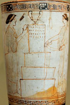 Tomb scene Inscription Painter MAN 19497. Women bringing offerings to a tomb. Attic white-ground lekythos, 470–460 BC.