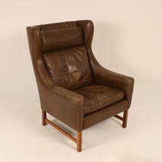 "Leather armchair ""Vatne 965"" designed by Fredrik Kayser for Vatne Møbler in 1964"