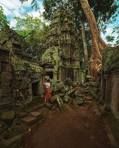When Lara Croft and Tomb Raider pushed Hollywood images of Ta Prohm temple into cinemas, they consolidated the case for Cambodia as a tourist destination. Siem Reap, Angkor Wat, Great Places, Places To See, Ta Prohm, Hollywood Images, Temple Ruins, World Traveler, Amazing Destinations