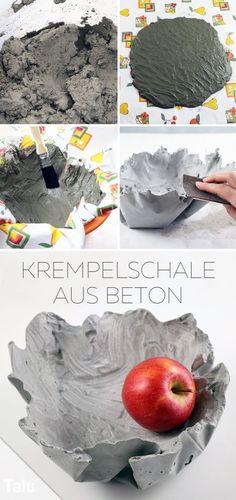 Kostenlose Anleitung - Basteln mit Beton - Schale aus Beton - Talu.de