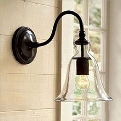 WinSoon Industrial Edison Simplicity 1 Light Wall Mount Light Sconces Lamp Aged Steel Finished Bell Glass Shade - - Amazon.com