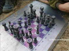 Nuts n bolts chess set