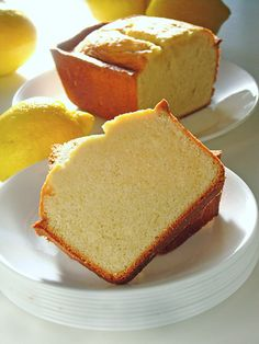 Lemon butter pound cake.