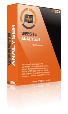 The WebsiteAnalyser is the perfect SEO tool to give you a comprehensive, fast and professional analysis of your website and to visually prepare the analysis results and to generate a detailed, custom report for you.