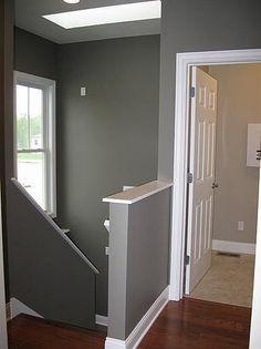 Stairwell on Pinterest Half Walls Knee Walls and Railings
