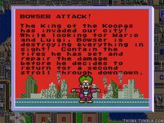 Bowser Attack! - Doctor Wright - Dr. Wright - Bowser - Sim City - Super Nintendo - Super Nintendo Entertainment System - Nintendo