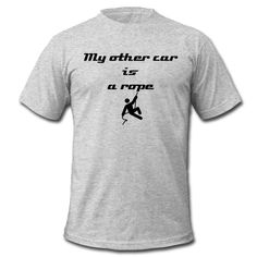 My other car is a rope - Men's T-Shirt by American Apparel