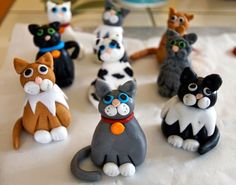 Fondant cat toppers - how to ★ More on #cats - Get Ozzi Cat Magazine here >> http://OzziCat.com.au ★