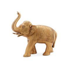 """11"""" Brass Elephant Objet ($79) ❤ liked on Polyvore featuring home, home decor, decor, animals, brass home decor and elephant home decor"""