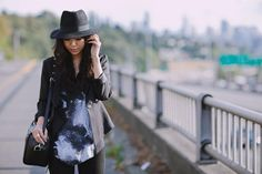 """heyprettything.com: #Nordstrom """"Dare to Pair"""": downtown chic with #RebeccaMinkoff bag"""