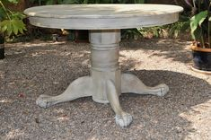 dining table claw feet French Country shabby chic
