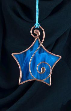 Stained glass, star, Christmas ornament, Christmas tree decoration, Christmas suncatcher, Tiffany, glass star, Tiffany star