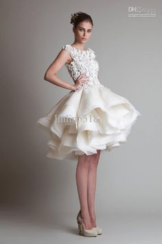 Wholesale High Neck Prom Dresses - Buy Sizes Available Gorgeous A-line Jewel Tulle Satin Organza Knee Length Short Party/Homecoming/Evening Dress/ Wedding Dresses, $115.28 | DHgate