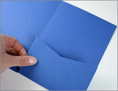 How to make custom invitation pockets.. definitely doing this!