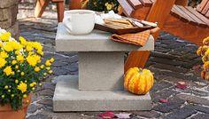 cinder block outdoor table DIY cinder block garden ideas patio furniture ideas