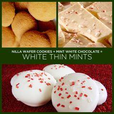 Biscoitos Nilla Wafer   chocolate branco com menta   34 receitas insanamente simples com apenas dois ingredientes