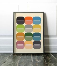 Wall art print in a minimalist mid century modern style. Perfect for injecting some colour into your walls. Please note, frame is not included. Lots more minimalist and mid century style prints are available here: Modern Prints, Large Prints, Mid-century Modern, Wall Art Prints, Fine Art Prints, Mid Century Wall Art, Mid Century Style, Printable Wall Art, Scandinavian