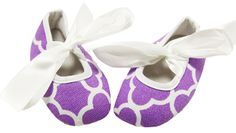 Lavender Waverly Print Crib Shoes