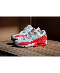 brand new 358d4 ee0a6 Cheap Nike Air Max 90 Mesh Red White Grey Trainers Sale UK