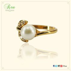 The pearl is the queen of gems and the gem of Queens! #ring #pearl #diamonds #gold #jewelry #customized #raa #chennai