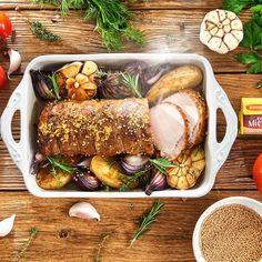 Delikatny schab marynowany w musztardzie francuskiej Sausage, Pork, Turkey, Homemade, Meat, Chicken, Cooking, Kale Stir Fry, Kitchen