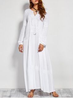 GET $50 NOW | Join RoseGal: Get YOUR $50 NOW!http://www.rosegal.com/maxi-dresses/long-sleeve-embroidered-maxi-dress-847870.html?seid=5909080rg847870