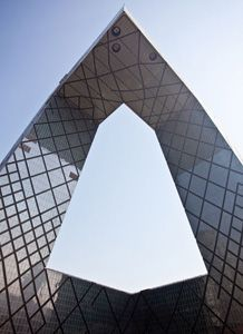 China Central Television (CCTV) Headquarters, Beijing, China. A highly unusual shape, described as a 'three-dimensional cranked loop' | Arup