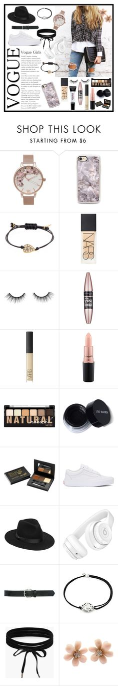 """""""Casual👌🏻"""" by robbieandhunter ❤ liked on Polyvore featuring Olivia Burton, Marc by Marc Jacobs, NARS Cosmetics, L'Oréal Paris, tarte, Maybelline, MAC Cosmetics, NYX, Barry M and Vans"""
