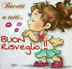 Kisses to all. Italian Memes, Cute Love Gif, Art Of Beauty, Learning Italian, Feelings And Emotions, Good Morning, Cristiani, San Valentino, Woodstock