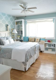 custom diy bookcases and a window seat in the master bedroom, bedroom ideas, diy, how to, shelving ideas