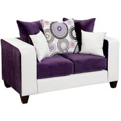 White and Purple Love Seat