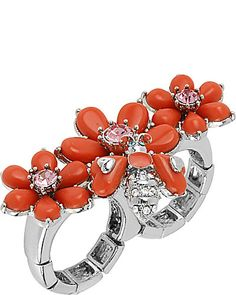 Shop a bold yet classic assortment of designer costume jewelry from Betsey Johnson. Add a finishing touch to your outfit with our unique fashion jewelry. Coral Accessories, Coral Jewelry, I Love Jewelry, Jewelry Accessories, Jewelry Rings, Fashion Rings, Fashion Jewelry, Coral Ring, Betsey Johnson Dresses