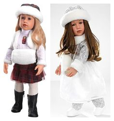 Promo photos of Gotz Matroshka doll on the left and Winter doll on the right