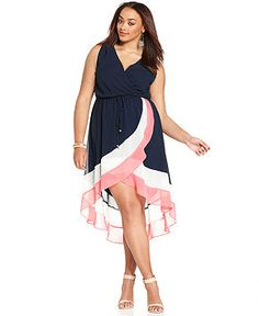 Love Squared Plus Size Sleeveless Colorblocked Dress - Plus Size Dresses - Plus Sizes - Macy's