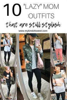 """10 """"Lazy"""" Mom Outfits That Are Still Stylish (No Denim Allowed) - my kind of swe. - 10 """"Lazy"""" Mom Outfits That Are Still Stylish (No Denim Allowed) – my kind of sweet- Source by lottaschonstenbilder - Baby Outfits, Casual Outfits For Moms, Mode Outfits, Stylish Outfits, Denim Outfits, Stylish Mom Clothes, Summer Mom Outfits, Young Mom Outfits, Comfortable Outfits"""
