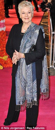 Judi Dench - scarf look.
