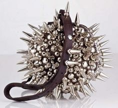 Dafne Balatsos stud-ball bag  - pinned by RokStarroad.com ~ unleash your inner RokStar - fashion, pop and mental health
