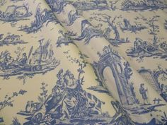 Toile de Jouy french curtain fabric clearance