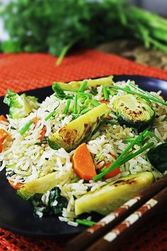 Brussels Sprouts Fried Rice from Vegan with a Vengeance Cookbook