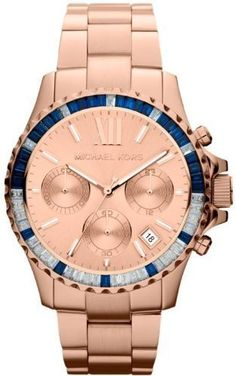 Not really a fan of rose gold but, I want because I already have the gold one! Michael Kors Everest Baguette Crystal Bezel Bracelet Watch, available at Michael Kors Rose, Michael Kors Watch, Michael Kors Chronograph, Daniel Wellington, Emporio Armani, Metal Bracelets, Stainless Steel Bracelet, Fashion Watches, Women's Fashion
