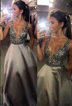 Glitter Light Purple Prom Dress, Lo
