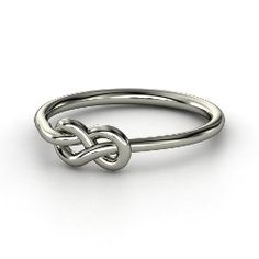 Forget Me Knot Ring, White Gold