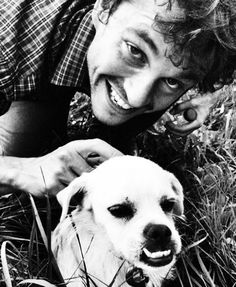 Hugh Dancy...With one of the Hannibal dogs... Being adorable... I can't...