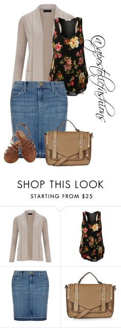 """Apostolic Fashions #1285"" by apostolicfashions on Polyvore featuring Viyella, Current/Elliott and Topshop"