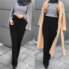 Casual and sporty hijab style Pencil skirt with hijab-Casual and sporty hijab style – Just Trendy Girls Muslim Fashion, Modest Fashion, Women's Fashion Dresses, Fashion Pants, Hijab Fashion, Modest Outfits, Emo Fashion, Fasion, Hijab Casual
