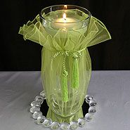 Celery organza wrap for centerpieces