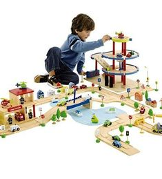 Wheel Town Deluxe Roadway and Harbor Set, 46-Piece by HearthSong®. $69.98. For Ages 3 and Up. Includes: road sections, boats, harbor playmat and more. Interconnecting wood tracks and accessories. Adult assembly required.. When kids visit Wheel Town, they'll stay and play for hours! All Wheel Town elements have been carefully designed to work together, so kids can mix and match parts of the different sets and accessories, and move items around to give their towns a w...
